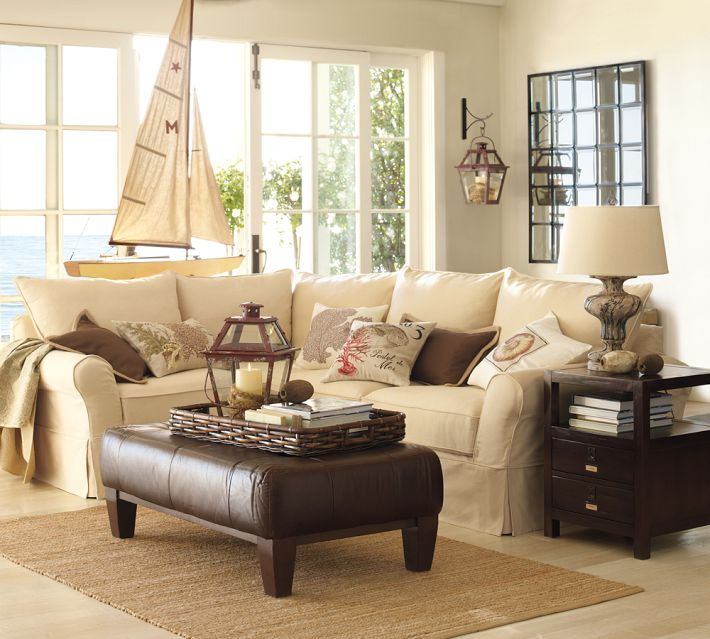Delightful Pottery Barn Eco Friendly PB Comfort Sectional Sofa Collection