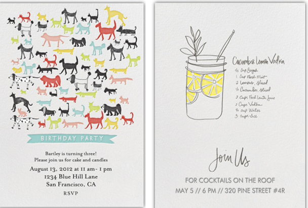 paperless post digital invitations and stationary that are chic and