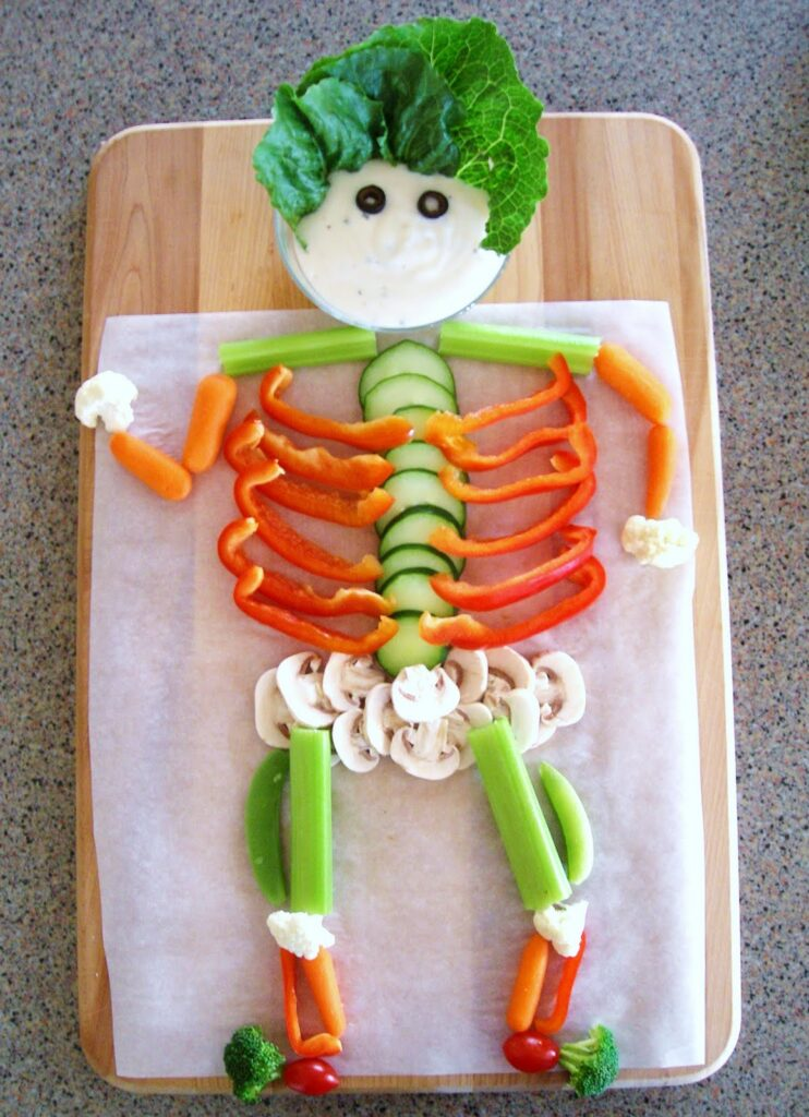 This image has an empty alt attribute; its file name is HalloweenVeggieSkeleton-742x1024.jpg